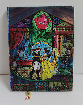 Disney Beauty & The Beast Live Action Belle & Rose Stained Glass Diary Journal