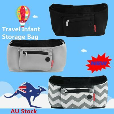 Travel Infant Baby Pram Storage Bag Diaper Bottle Organizer Pushchair Basket XP