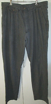 Oke Jeans Vintage Size 38 Grey Retro Trousers Pants Jean Cotton Pleated Front