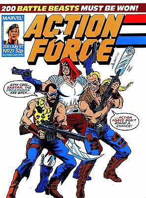 Uk Comics Action Force Weekly Digital Comics Collection On Dvd