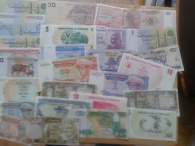 African Countries Paper Banknotes New Uncirculated Unc Mint Condition
