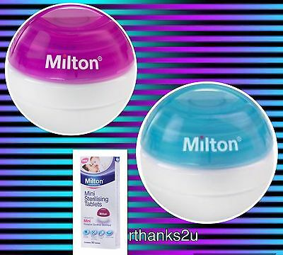 Milton Mini Portable Soother / Dummy Steriliser & 60 Tablets (10 free + box 50)