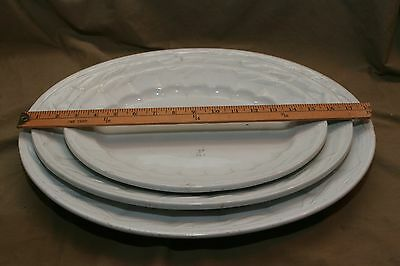 3 Antique 19th C English Ironstone Serving Platters Elsmore Forester W&E Corn
