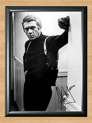 Steve McQueen Signed Autographed A4 Photo Print Poster Great Escape Bullit dvd 2