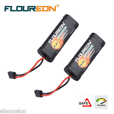 2x 8.4V 3000mAh Ni-MH Battery Hump Pack Traxxas Plug for RC Cars Traxxas Tamiya