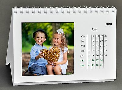 Personalised DESKTOP Calendar With Your PHOTOS & MESSAGE 13 Page A6 Xmas Gift