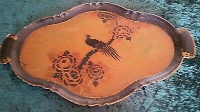 Japanese made  Victorian Lacquered Papier Mache Tray