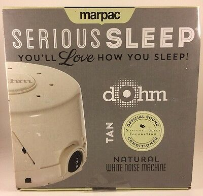 Marpac Dohm DS Dual Speed Sound Conditioner White Noise - Tan / Fog *New OPENED*