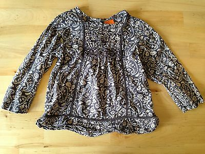 Baby Girl Minimode Long Sleeve Blouse Top Age 12-18 Months Brown Faun Beige Pais