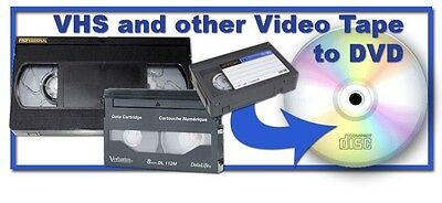 Camcorder tapes to DVD,  Beta, VHS, VHS-c, hi-8, 8mm. Ntsc only.