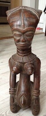 Rare, antique, African, carved wooden, tribal, maternity/ fertility fiqure