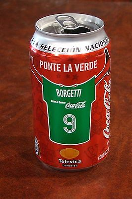 Empty Coca Cola Can From Mexico National Soccer Team Borgetti Jersey