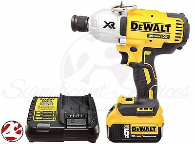 "DEWALT DCF898B 20V MAX Brushless High-Torque 7/16"" Impact Wrench QR 5.0 Ah Kit"