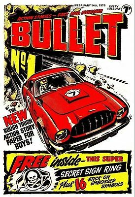 Uk Comics Bullet Complete Run Of Boys Adventure Comics On Dvd 140+ Issues