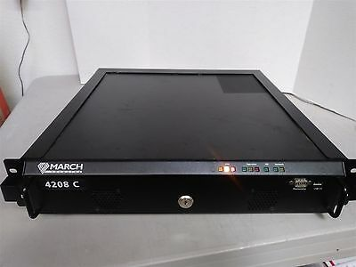 March Networks 4208 C NVR Hybrid 8 Channel Network Video Recorder w/ 1TB HDD