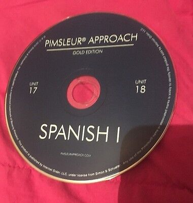 Pimsleur Approach Gold Edition Spanish I Replacement disc 9 Unit 17 & 18 ONLY
