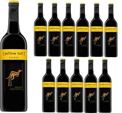 Yellow Tail Shiraz Red Wine 2015 (12x750ml) Free Shipping