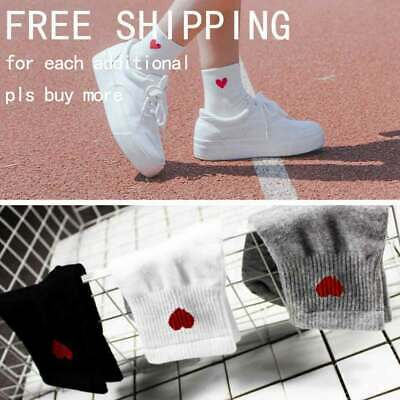 Kawaii Cute Women Heart Pattern Soft Breathable Ankle-High Casual Cotton Socks