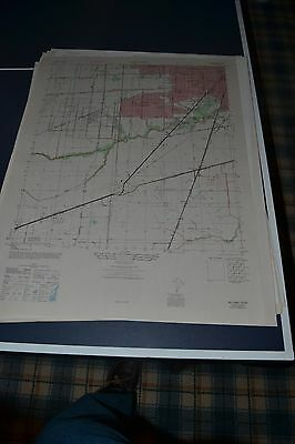 1940's Army topo map Bellaire Texas Sheet 6943 III NW