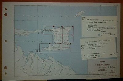 1944 US Army Map Collection of Trinidad  AMS E742 1:62,500 Complete set 8 Sheets