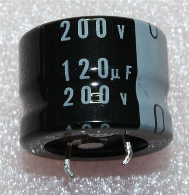 Nichicon GJ Snap-In Radial Electrolytic Capacitor 120µF 200V 105°C