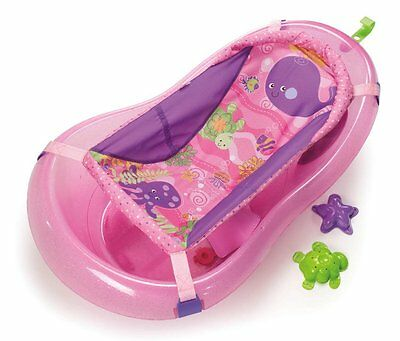 Fisher Price Deluxe Pink Sparkles Under The Sea Whale Sling Baby Bath Tub NEW