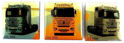 AUTO Pin / Pins - MERCEDES BENZ / CHARTER WAY IAA 2004 - 3 PINS!!!!!!!! [4026I]