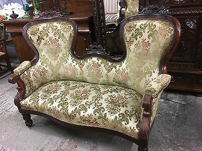 Antique Rosewood Sofa Stunning Show Wood