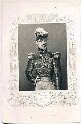 ENGRAVING MARSHALL ST ARNAUD Commander of the Fremch Army during the CRIMEAN WAR