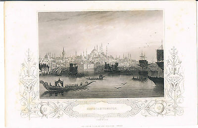 Engraving Constantinople The London Printing And Publishing Co H Bibby