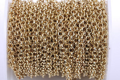 links are 8mm  FCH0212a 3 feet Large Bronze Metal ROUND Link Chain 1 yard