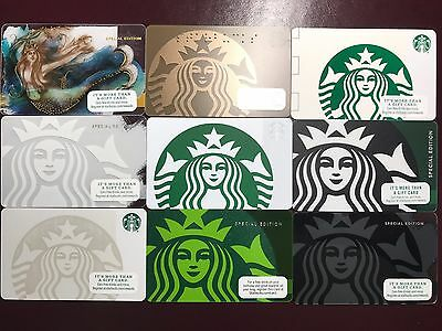 STARBUCKS Card Collection Lot Set of 9 Mermaid Siren - Limited Special Edition