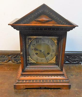 junghans  german walnut cased bracket clock c1900s