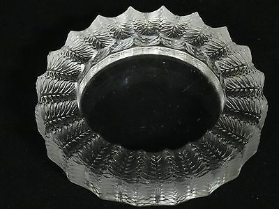 Vintage Lalique French Art Glass Jamaique Frosted Crystal Ashtray ~ 5.5""