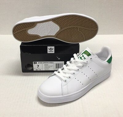 new products b5369 33e51 ADIDAS STAN SMITH Vulc #B49618 White / White-Green *New*
