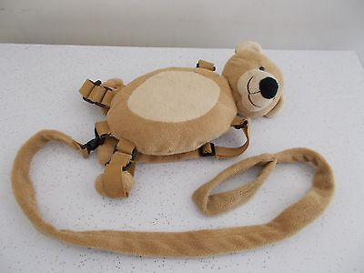 Eddie Bauer Child Toddler Safety Harness Buddy Leash Brown Bear Backpack