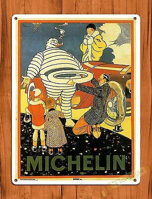 "TIN-UPS TIN SIGN ""Michelin"" Michelin Man Vintage Garage Tires Decor Roosevelt"