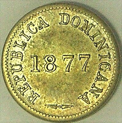 Dominican Republic 1877 1 Centavo  ---Historical 1st Centavo of the Republic---