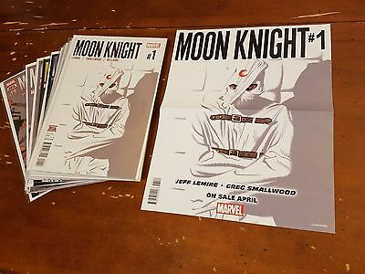 MOON KNIGHT #1-12 (2016) Marvel complete set +promo poster UNREAD NM Jeff Lemire