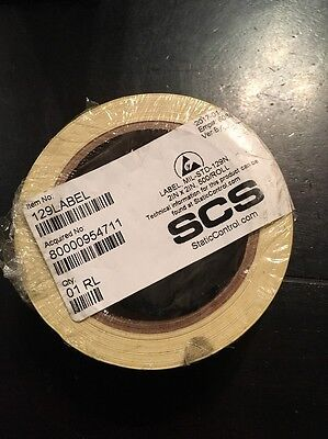SCS Label, Black/Yellow, 2in.H x 2in.W, Self-Ad 129LABEL