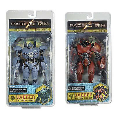 "PACIFIC RIM - 7"" Striker Eureka & Crimson Typhoon Jaeger Action Figure Set (2)"