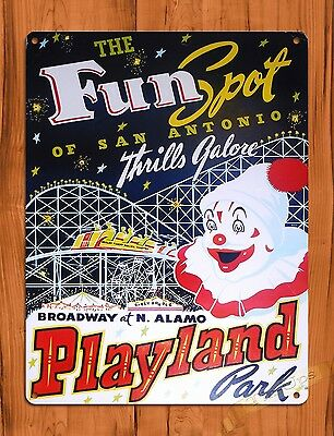 TIN-UPS Tin Sign Fun Spot Amusement Park Attraction Ride Art Poster