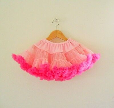 Mud Pie Pink Double Layered Tulle Tutu Skirt Size L Girls 4-6
