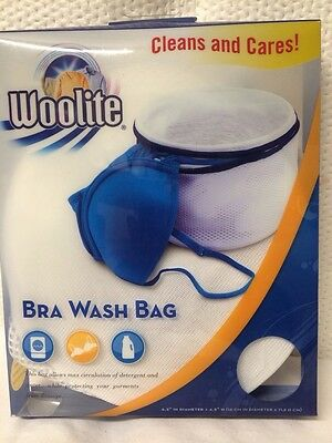 Woolite Bra Wash Bag Cleans And Cares 6.3 In X 4.5 In Double Layer Mesh