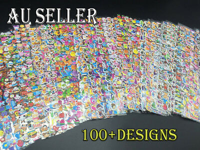 20 Sheet 3D Kids Bubble Sticker Stickers Animal Barbie Party Favors Bag Filler