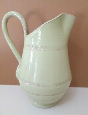 "Vietri Bellezza - Celadon Green Pitcher - 8 3/4"" - 40 Oz New 0711G"