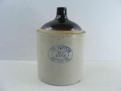 Old Western Pottery of Denver crock stoneware jug