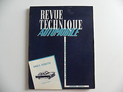 revue technique automobile RTA SIMCA VEDETTE de 1955 - 1957