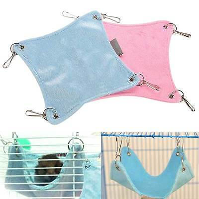 Warm Plush Cloth Hamster Chinchilla Hammock Guinea Pig Rabbit Hanging Bed Cage T
