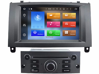 In Dash Android 6.0 Car DVD GPS Navigation Wifi Radio For Peugeot 407 2004-2010